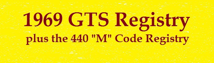 Click HERE to see the 1969 GTSs!!